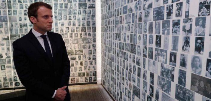 Emmanuel Macron au Mémorial de la Shoa: 'Nous avons aujourd'hui un devoir qui est double, le devoir de mémoire et le devoir que cela n'advienne plus jamais'