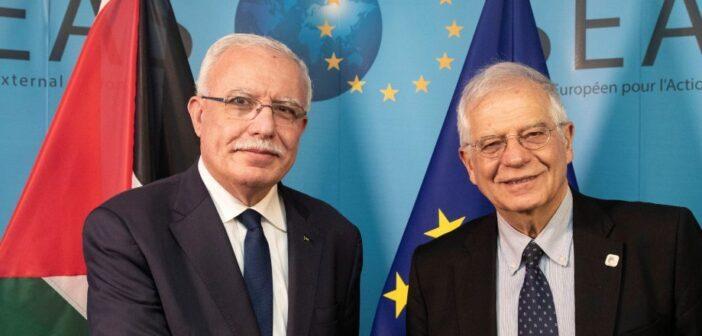 Les ministres des Affaires étrangères de l'UE auront jeudi un 'échange de vues' avec le ministre des affaires étrangères de l'Autorité palestinienne