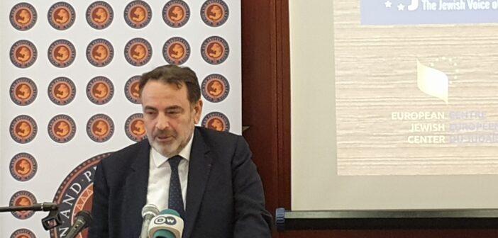 """Joël Mergui: """"Malgré les efforts de l'UE pour lutter contre l'antisémitisme, la situation ne s'améliore pas en Europe.Pire, elle se détériore"""""""